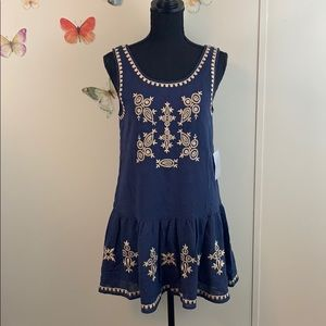 NWT THML Embroidery Detail Tank Dress